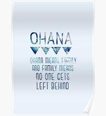 Ohana bedeutet Familie Poster