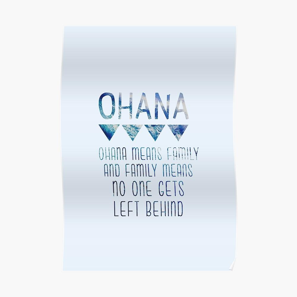Ohana significa familia Póster