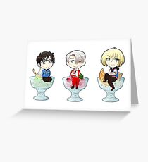 Yuri on Ice Cream Greeting Card