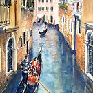 Venice gondolas 2 by Virginia  Coghill