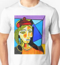 Girl with Red Beret T-Shirt