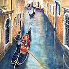 Venice gondolas 8 by Virginia  Coghill