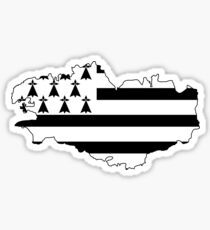 Brittany France Flag Sticker