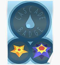 Cascade Badge - Kanto Region - Pokemon Poster