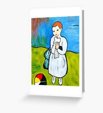 Child with a Dove Greeting Card