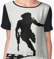 The Winter Solider Silhouette Women's Chiffon Top