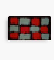 red and blue pixel abstract with black background Canvas Print
