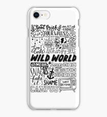 WILD WORLD - SONG TITLES (LIGHT) iPhone Case/Skin