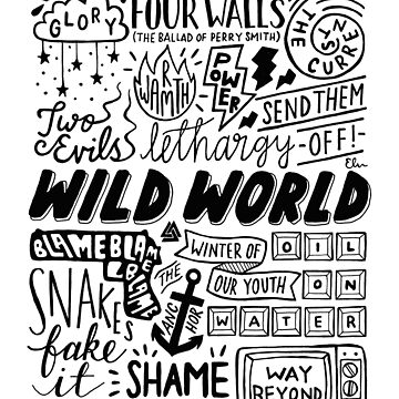 WILD WORLD - SONG TITLES (LIGHT) by elisavictoria