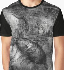 When The Stars Are Right - The Cat's Paw Nebula in Scorpius (black & white version) Graphic T-Shirt
