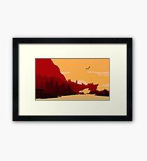 Skyrim Solitude Framed Print