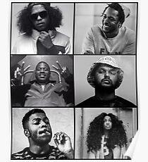 TDE - Kendrick, Ab-soul, Q, Jay Rock, Isaiah, SZA  Poster