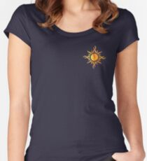 Watercolor Sun Women's Fitted Scoop T-Shirt
