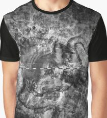 When The Stars Are Right - The Crab Nebula in Taurus (black & white version) Graphic T-Shirt