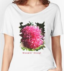 CUTE PINK DAHLIA FLOWER PETALS FUNNY QUOTE Women's Relaxed Fit T-Shirt