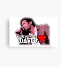 Duchovniacs Love David Canvas Print