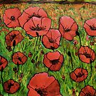 Red Poppies in field by George Hunter