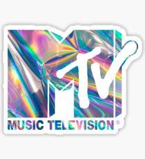 MTV Holographic Logo Sticker