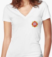DFD Logo Women's Fitted V-Neck T-Shirt