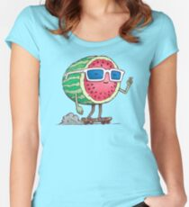 Watermelon Skater Women's Fitted Scoop T-Shirt