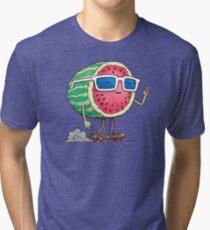 Watermelon Skater Tri-blend T-Shirt
