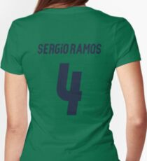 Sergio Ramos 4 Womens Fitted T-Shirt