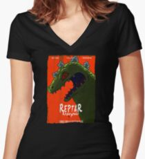 Reptar Resurgence Women's Fitted V-Neck T-Shirt