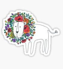Flower Lion Sticker