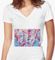 Blooming Women's Fitted V-Neck T-Shirt