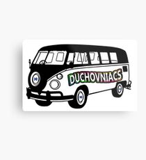 Duchovniacs Bus - David Duchovny Fan Squad Metal Print