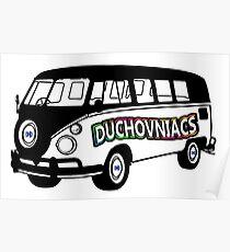 Duchovniacs Bus - David Duchovny Fan Squad Poster