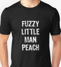 Fuzzy Little Man Peach Unisex T-Shirt