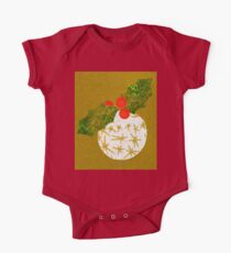 Xmas Bauble with Holly Collage One Piece - Short Sleeve
