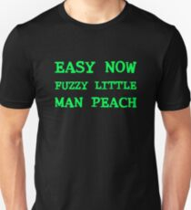 Easy Now Fuzzy Little Man Peach Unisex T-Shirt