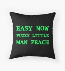 Easy Now Fuzzy Little Man Peach Throw Pillow