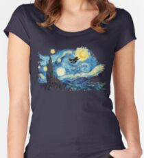 starry magic Women's Fitted Scoop T-Shirt