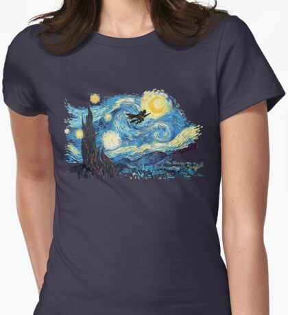 starry potter Womens Fitted T-Shirt