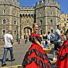 Windsor Castle, England. Girl in Victorian style.  by Remo Kurka