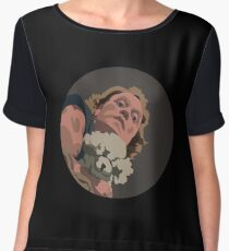 It Puts The Lotion in the Basket Chiffon Top
