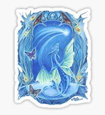 Wishing on a Star baby Dragon fantasy t shirt Sticker