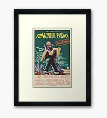 Forbidden Planet - 1956 Science Fiction Movie Poster Framed Print
