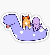 Pool Toy Tabby and Octopus  Sticker