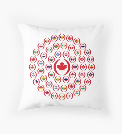 We Are Canada Multinational Patriot Collective 1.0 Throw Pillow