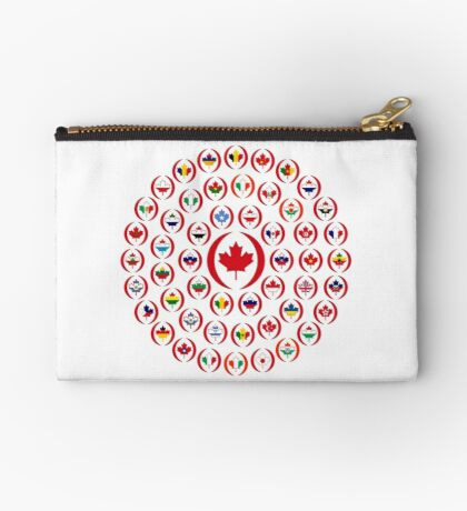 We Are Canada Multinational Patriot Collective 1.0 Zipper Pouch