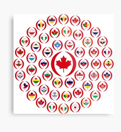 We Are Canada Multinational Patriot Collective 1.0 Metal Print