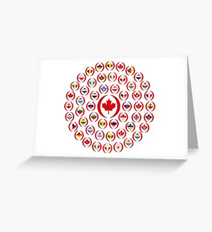 We Are Canada Multinational Patriot Collective 1.0 Greeting Card