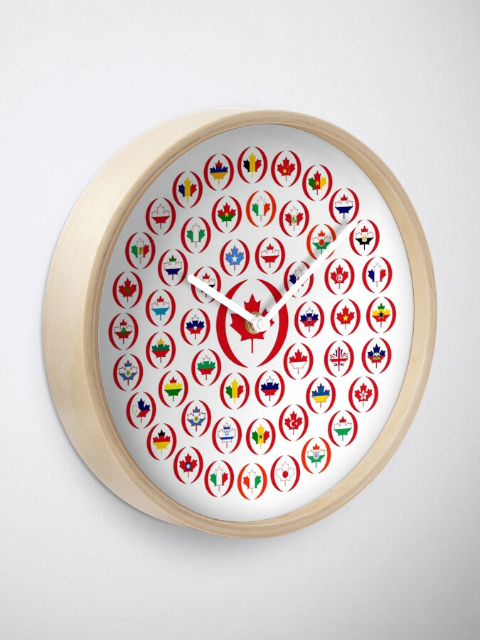 Alternate view of We Are Canada Multinational Patriot Collective 1.0 Clock