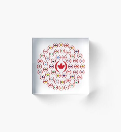 We Are Canada Multinational Patriot Collective 1.0 Acrylic Block