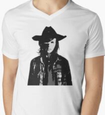 The Walking Dead - Carl Grimes Profile Men's V-Neck T-Shirt