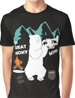 The Great Smoky Mountains Smokey Bluegrass Bear white Graphic T-Shirt